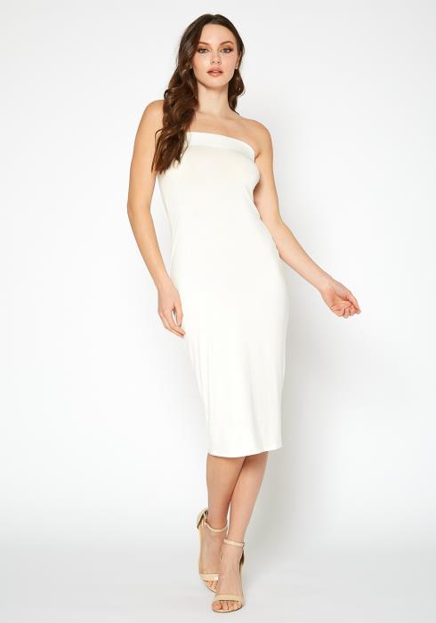 Bellatrix Womens Tube Top Bodycon Midi Dress