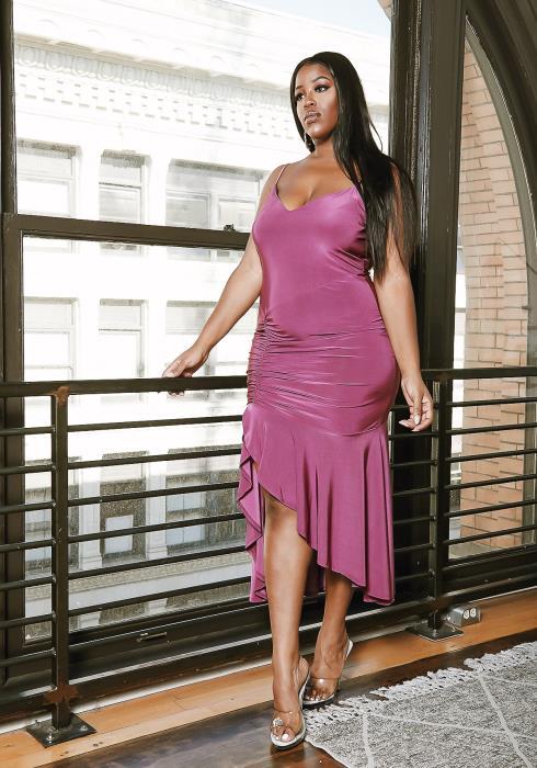 Asoph Plus Size Elegant Mermaid Cocktail Party Dress