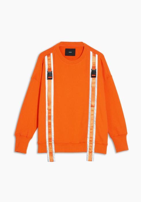 Sweatshirt with Reflective Tape