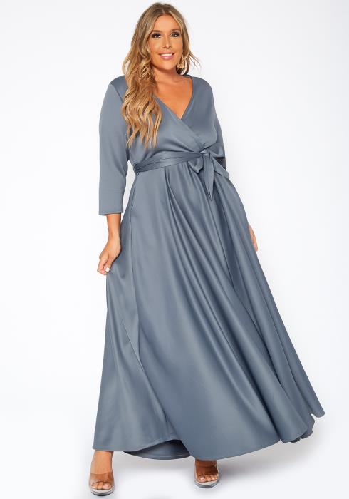 Asoph Plus Size Effortless Fit & Flare Maxi Dress