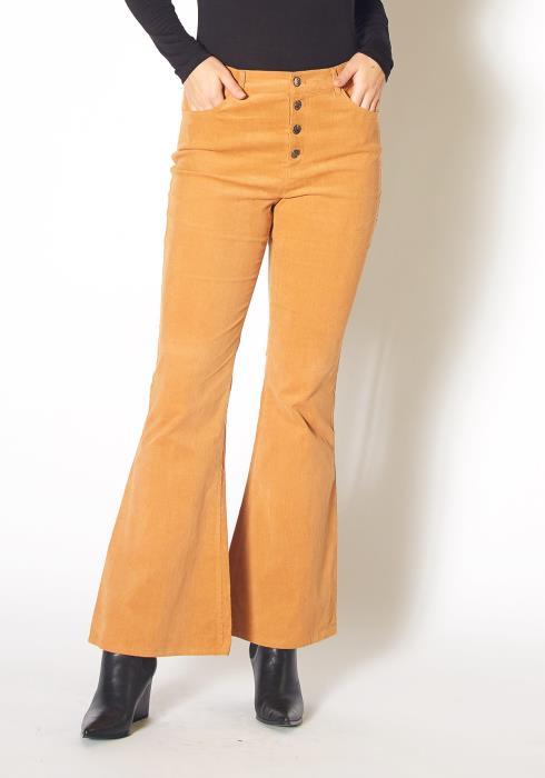 Pleione Corduroy Flared Pants