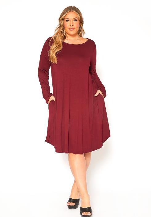Asoph Plus Size Midi Tunic Dress