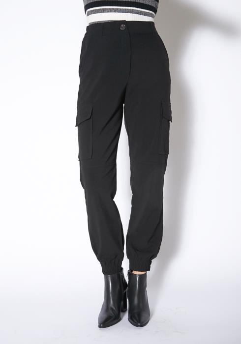 Tansy Womens Black Lightweight Cargo Pants