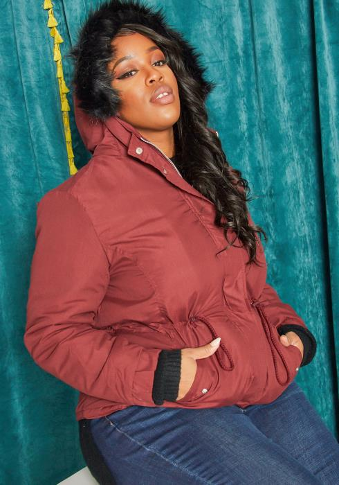 Asoph Plus Size Zip Up Thick Utility Jacket