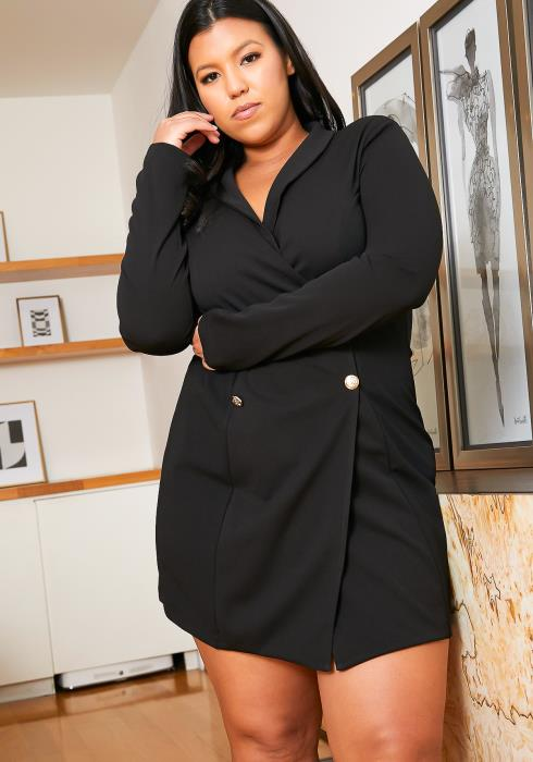 Asoph Plus Size Boss Lady Blazer Dress