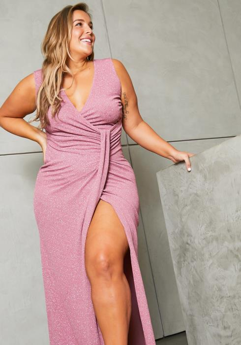 Asoph Plus Size Cinderella Maxi Evening Gown