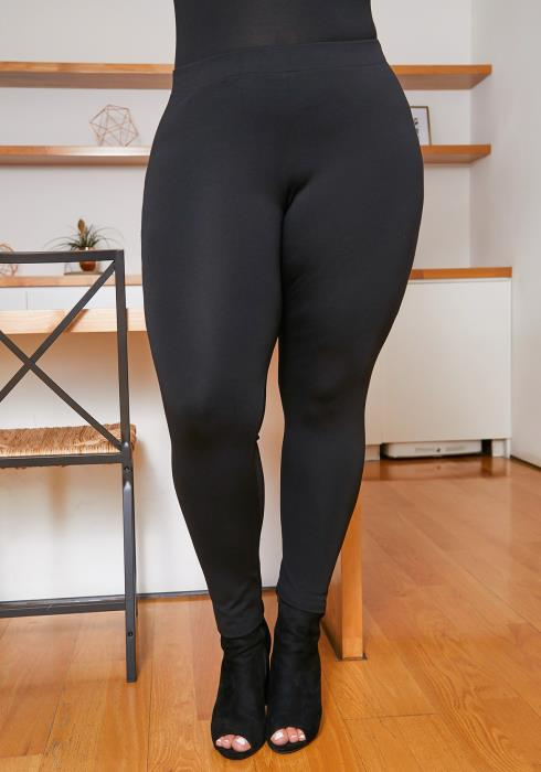 Asoph Plus Size Womens Mid Rise Basic Leggings