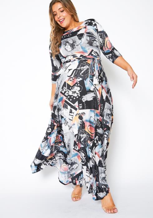 Asoph Plus Size Fashion Mood Board Inspired Womens Maxi Dress
