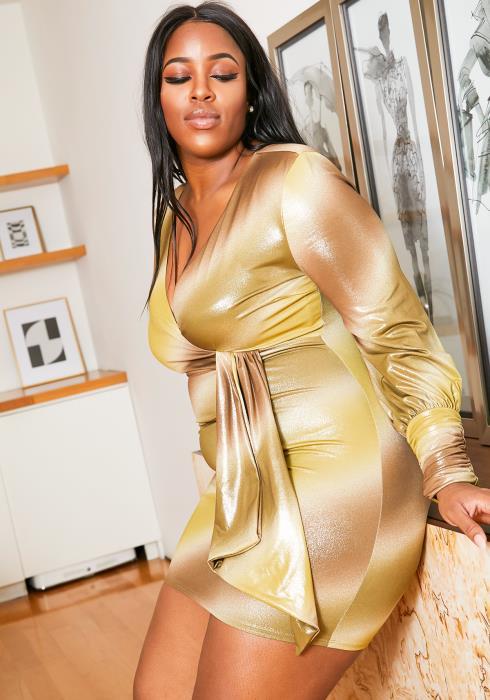 Asoph Plus Size Light It Up Party Dress