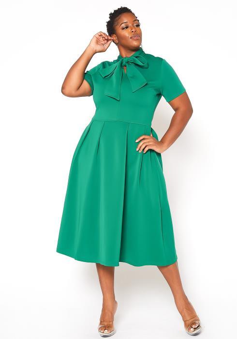 Asoph Plus Size Tea Party Fit Flare Dress