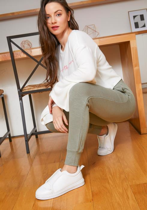 Tansy Womens Sage Green Fitted Jogger Pants