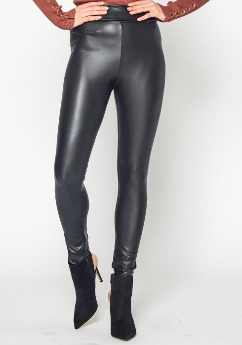 Tansy Womens Faux Leather High Rise Leggings