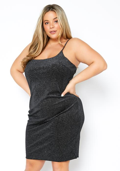 Asoph Plus Size Sparkling Womens Cami Dress