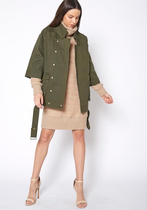 Ro & De Womens Half Sleeve Utility Jacket