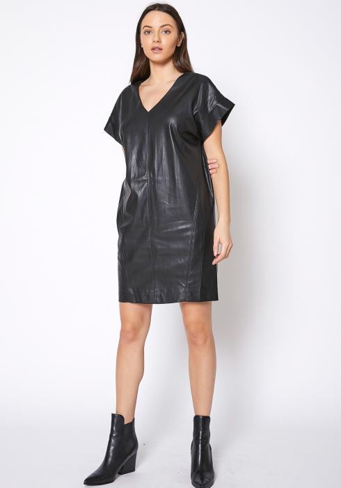 Ro & De Womens PU Leather Dress