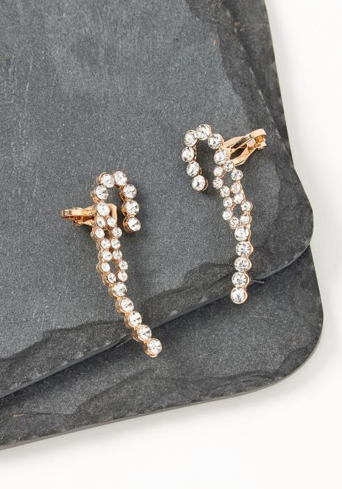 Asoph Charlotte Crystal Cane Crawler Cuff Earrings