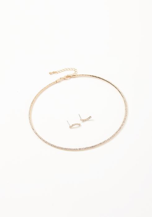 Asoph Bulgaria Stud Earrings & Choker Necklace Set