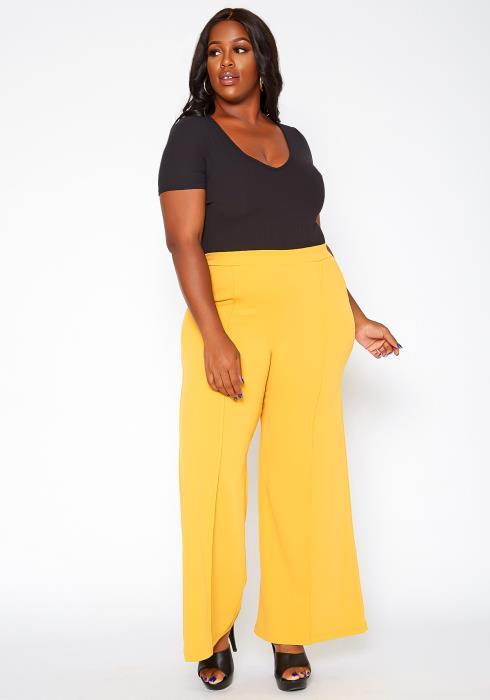 Asoph Plus Size High Rise Trouser Pants