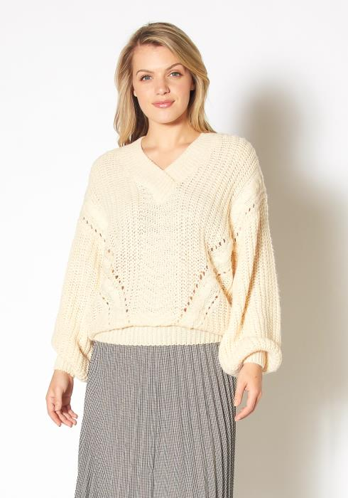 Pleione Womens Loose Knit Sweater