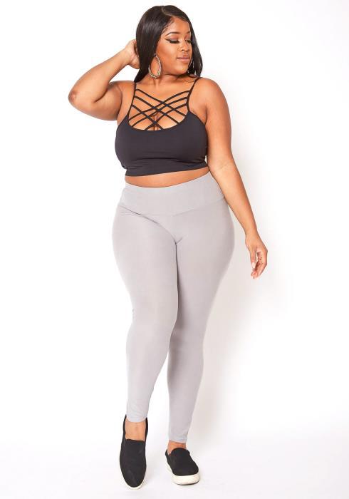 Asoph Plus Size Womens Low Rise Soft Leggings