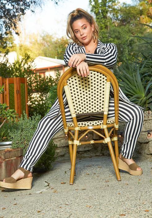 Asoph Plus Size Pin Striped Blazer & High Waist Pants Set