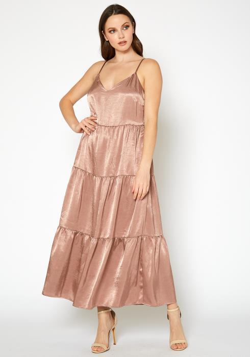 Bellatrix Womens Layer Patched Maxi Dress Petite