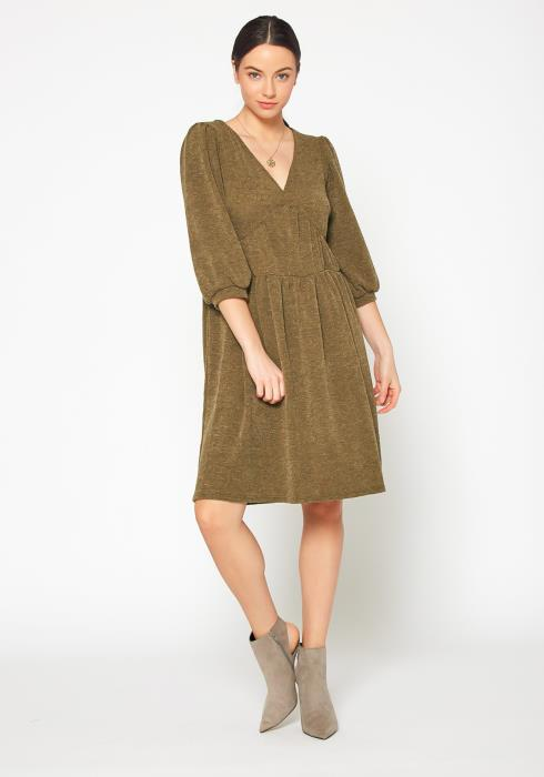 Bellatrix Womens V Neck Sweater Dress
