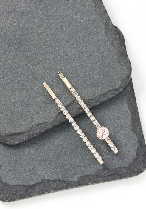 Clementine Silver Crystal Bobby Pin Set
