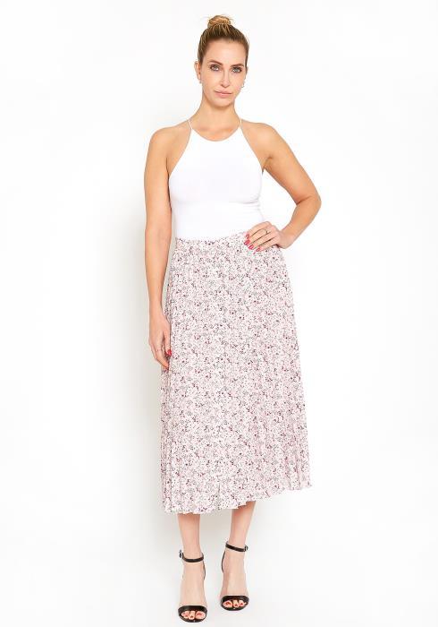 Pleione Ditsy Floral Pleated Midi Skirt