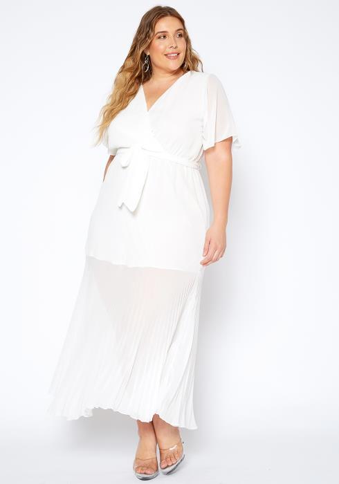 Asoph Plus Size Pure Goddess Wrap Dress