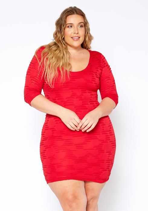Asoph Plus Size Scoop Neck Sexy Bodycon Dress