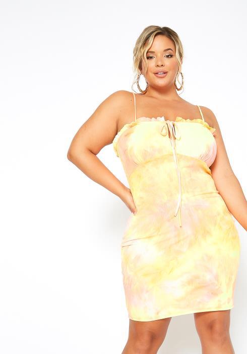 Asoph Plus Size Dreamy Tie Dye Bodycon Dress