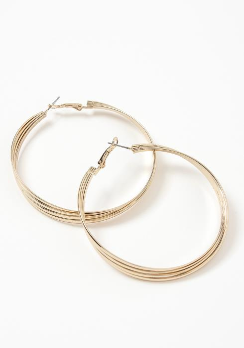 Romana Golden Tier Hoop Earrings