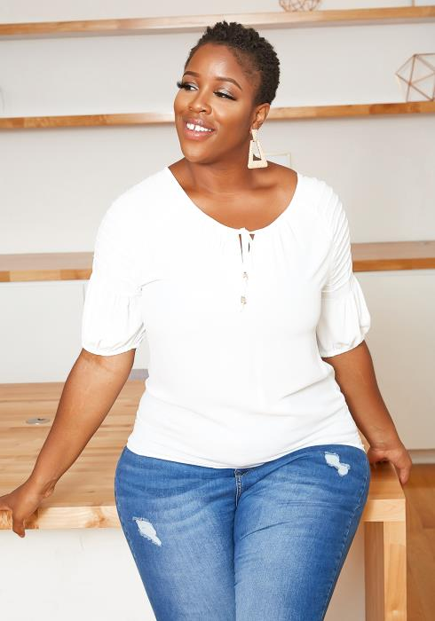 Asoph Plus Size Casual Lightweight Summer Top