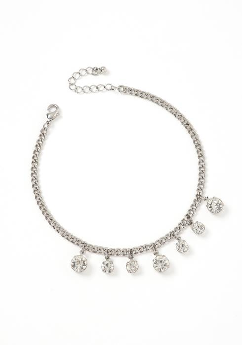 Aria Diamond Drop Chain Link Anklet
