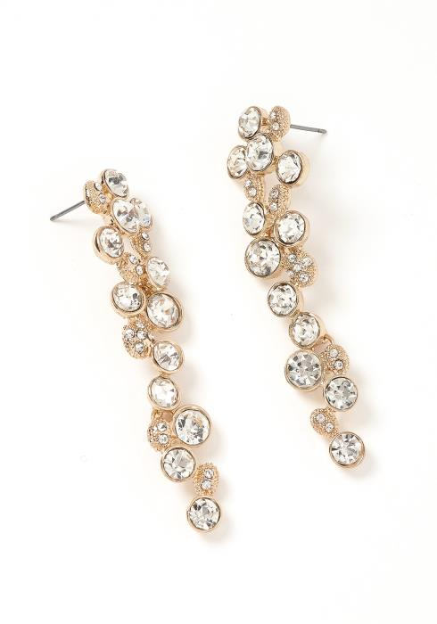 Verona Silver Crystal Drop Earrings