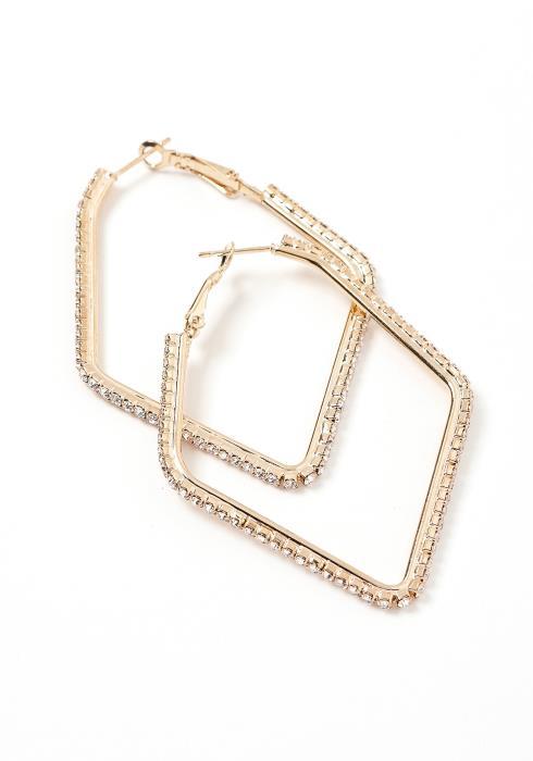 Vinita Cubic Square Hoop Earrings