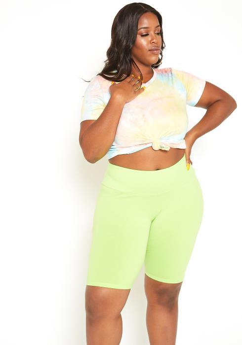 Asoph Plus Size Basic Mid Rise Biker Shorts