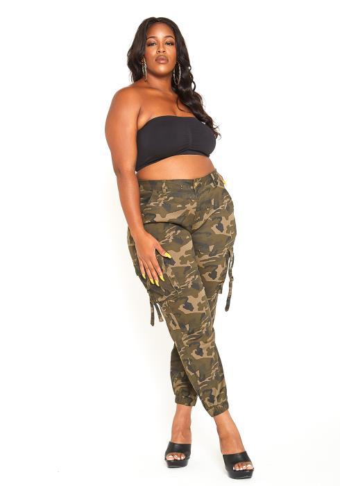 Asoph Plus Size Camo Utility Pants