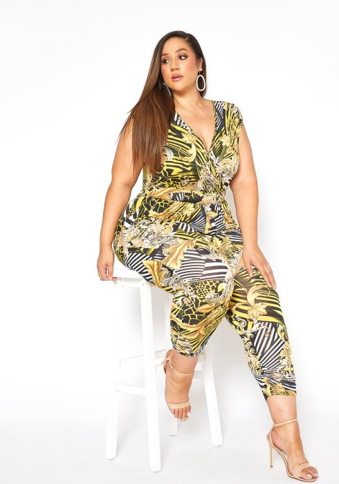 Asoph Plus Size Classy Day Sleeveless Jumpsuit