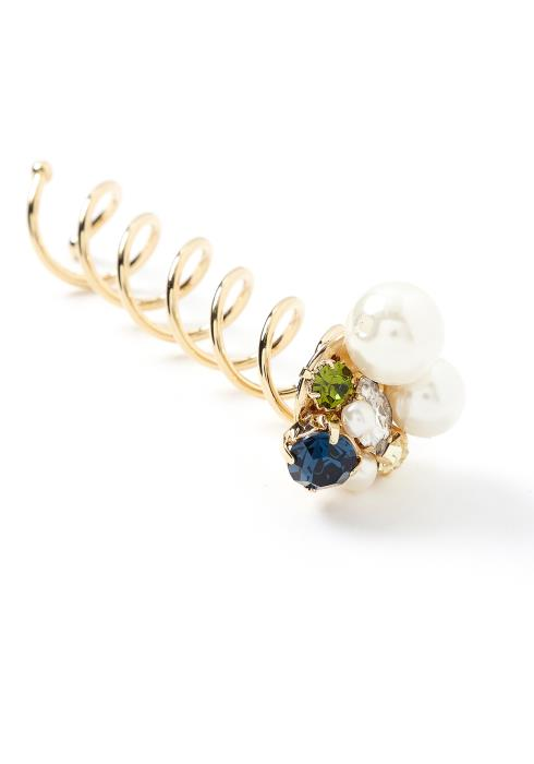 Caterina Navy Jewel Mixed Spiral Spin Hair Pin