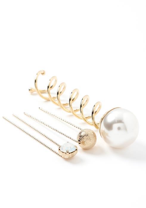 Violette Three Piece Jewel Mix Hair Pin Set