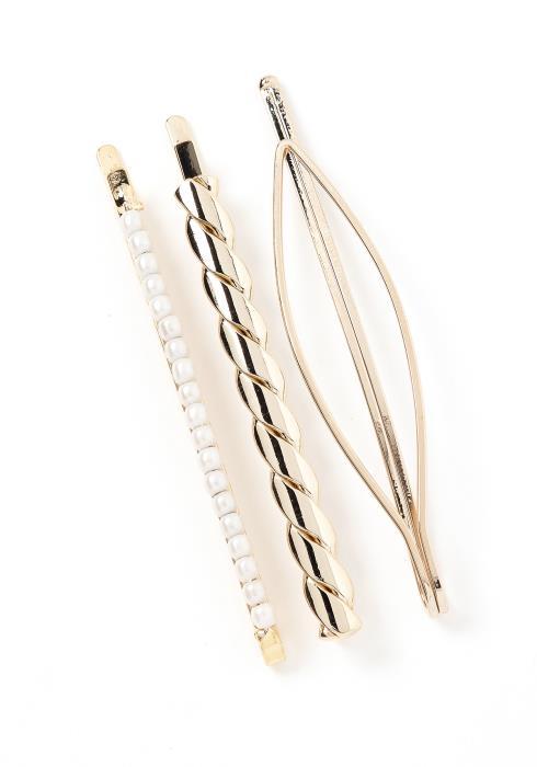 Analia Golden Twist Hair Pin Set