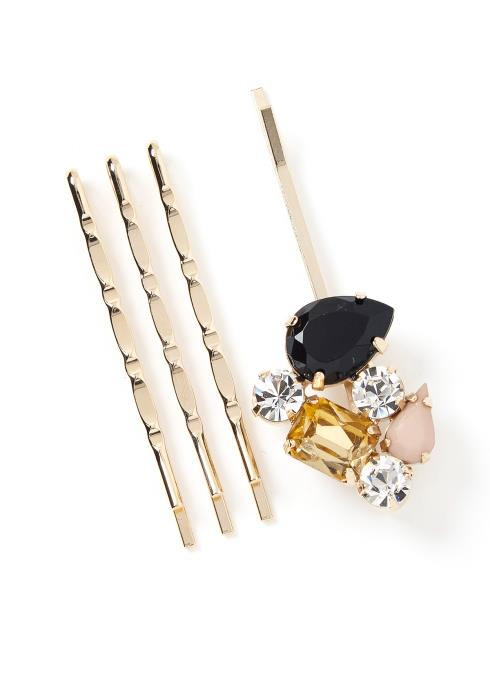 Mavis Crystal Jewel Hair Pin Set