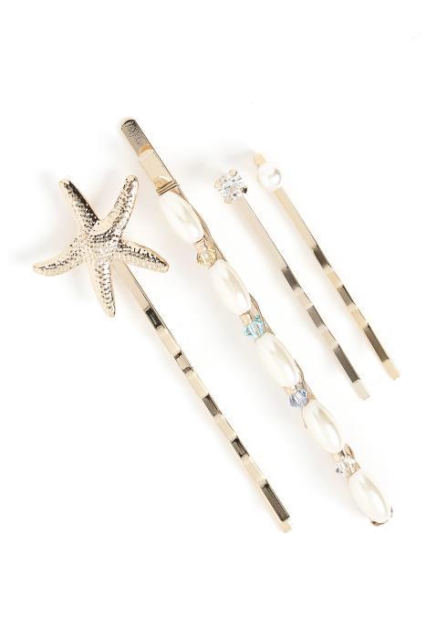 Redondo Gold Seastar Hair Pin Set