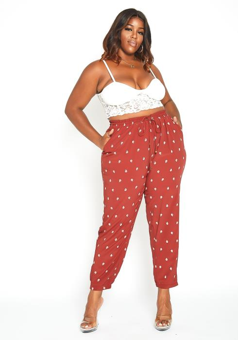 Asoph Plus Size Fall Season Straight Fit Pants
