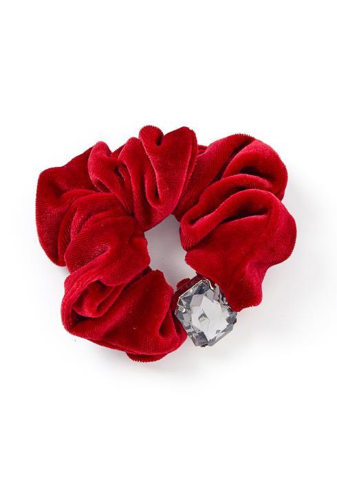 Precious Gem Velvet Hair Tie Scrunchie