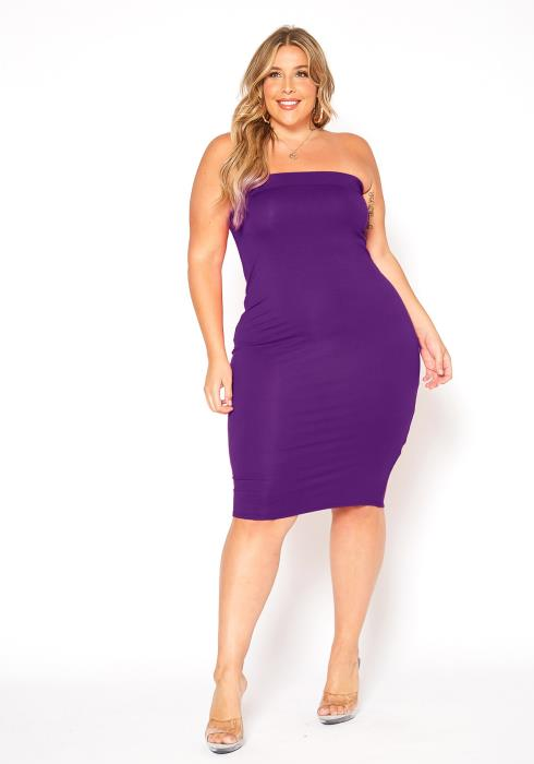 Asoph Plus Size Favorite Basic Bodycon Tube Dress