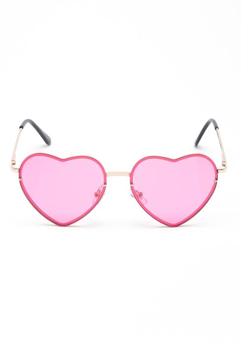 Love Street Heart Eye Rimless Sun Glasses