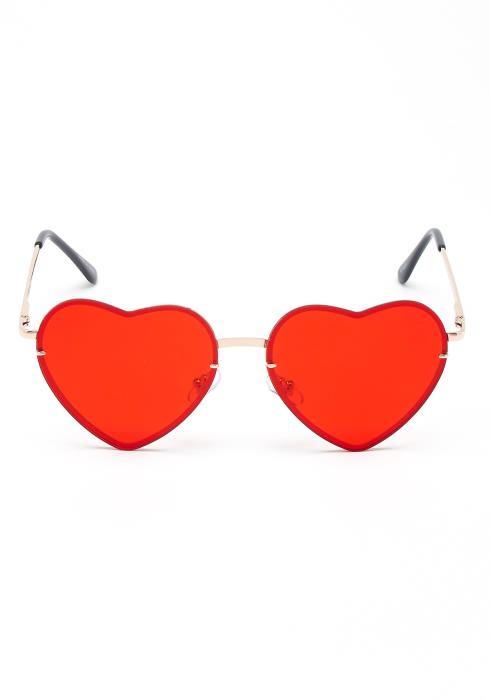 Love Street Heart Eye Rimless Sun Glasses